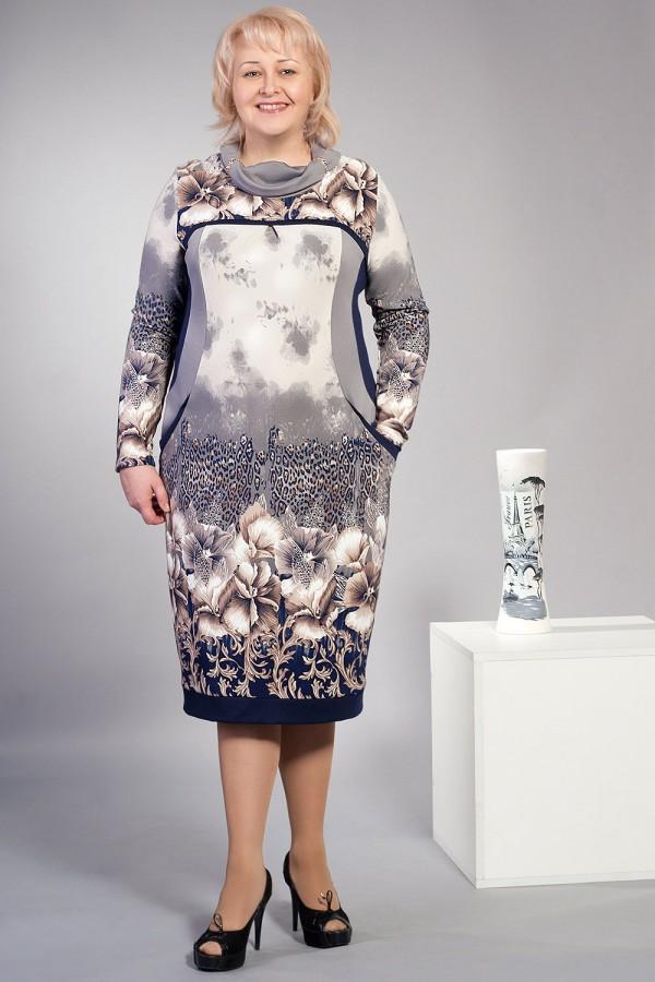 Платье Грейс 168 серый