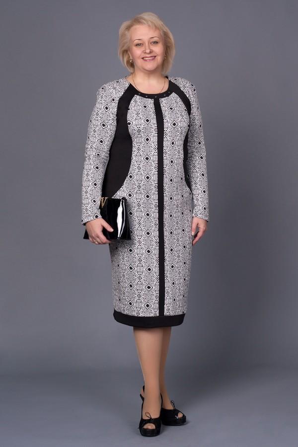 Плаття Марго 167 біло-чорний / ромб