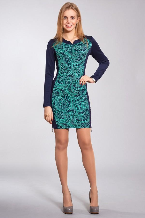 Платье Синтия 170 бирюза