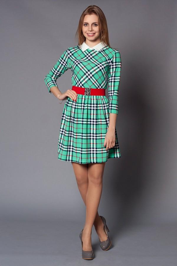 Платье Клайд 183 бирюза