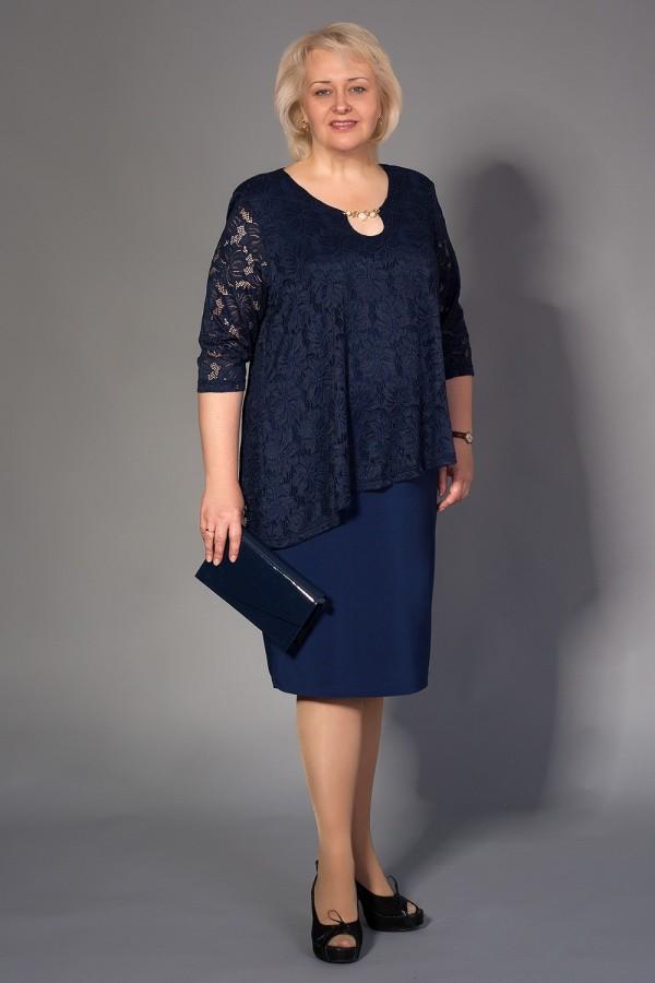 Плаття Ірма 205 темно-синій