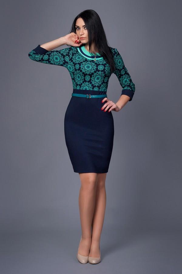 Платье Жасмин 208 бирюза