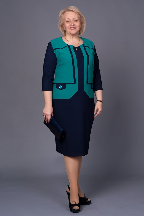 Плаття Стелла 210 бірюза