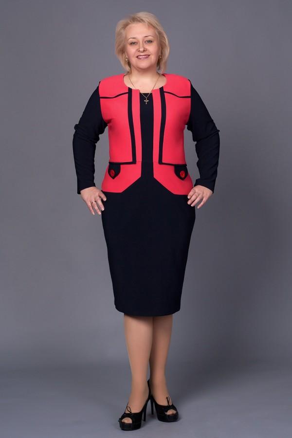 Платье Стелла 210 коралл
