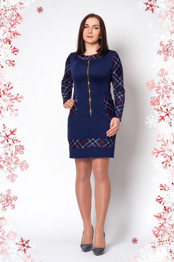Платье Мира 217 тёмно-синий