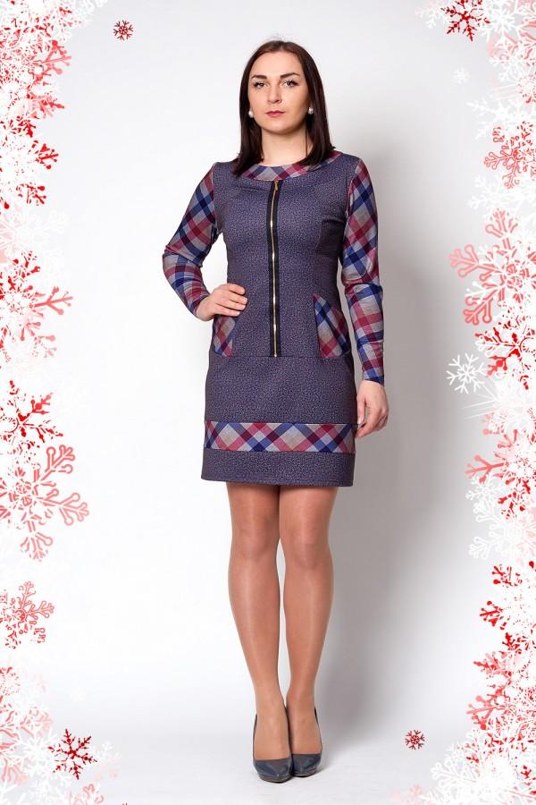 Платье Мира 217 серо-фиолетовый