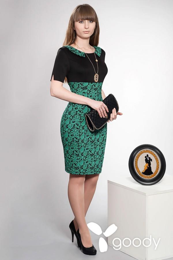 Платье Монами зеленое