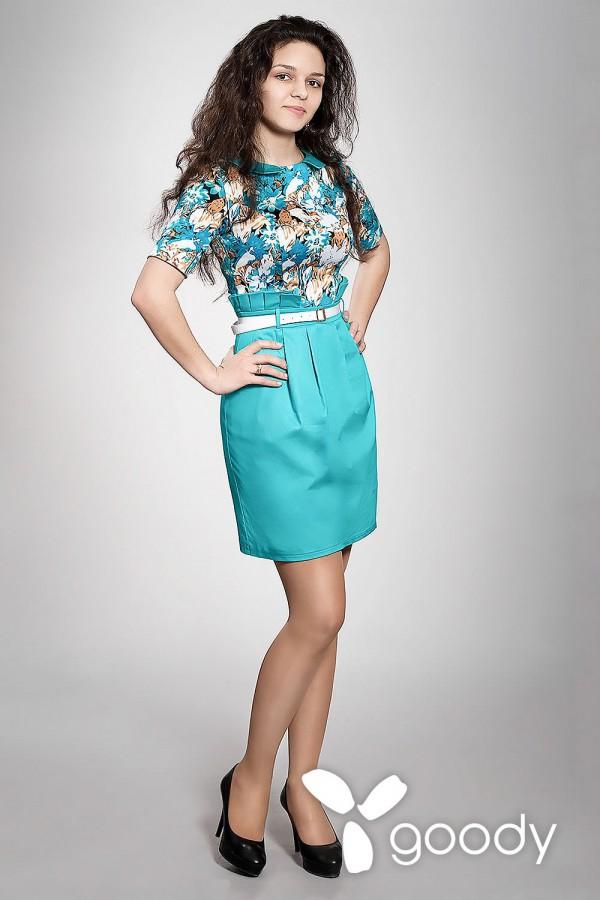 Платье Маренго голубое