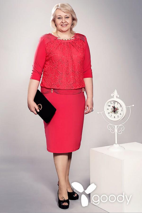 Платье Даниель 147 красное