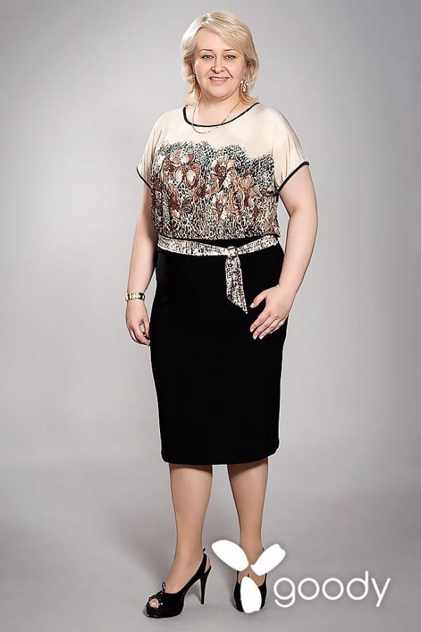 Платье Росса 148 коричневый