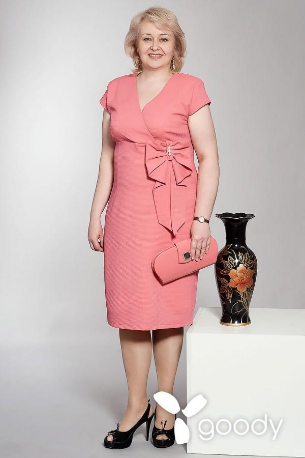 Платье Магнолия коралл