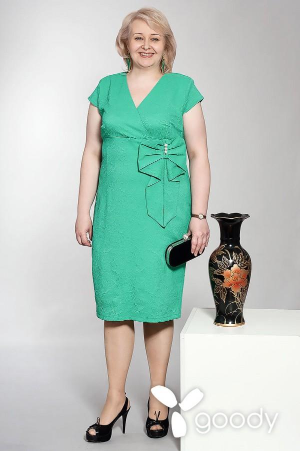 Платье Магнолия бирюза