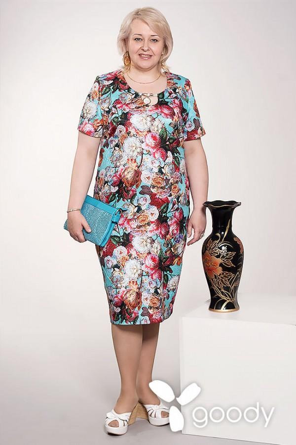 Платье Каролина 153 бирюза