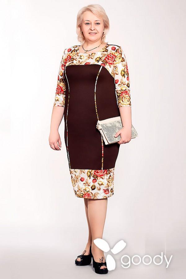 Плаття Лайт 158 коричневий