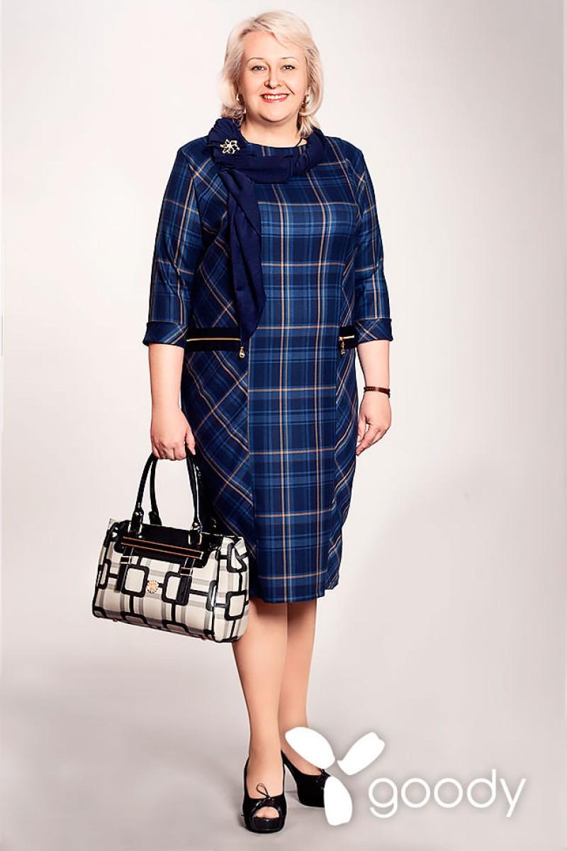 Купить Платье Анетт 159 синяя клетка VN15902 недорого (за 742грн ... 619363707e84f