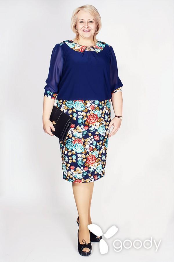 Платье Малате 161 тёмно-синий