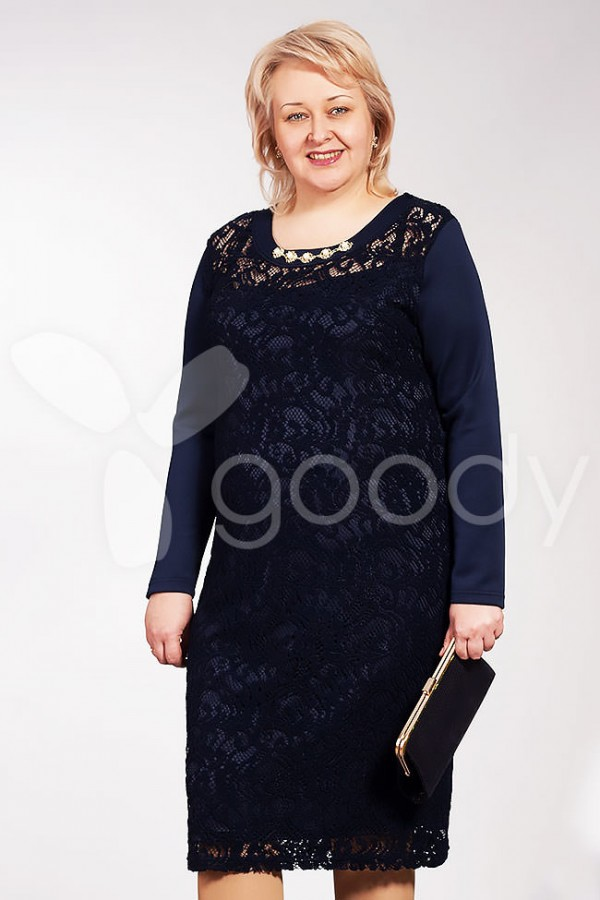 Платье Аврора 173 тёмно-синий