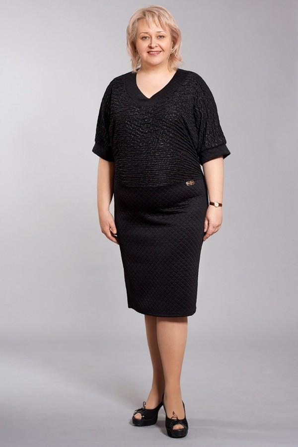 Платье Рима 137 чёрный/стёганый