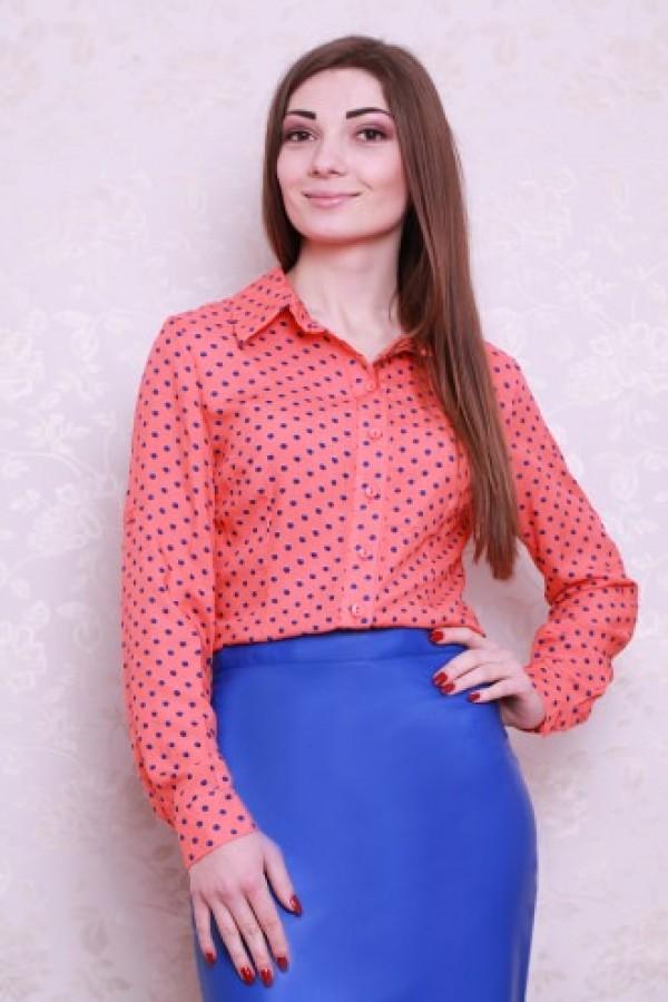 Рубашка 425 персиковый
