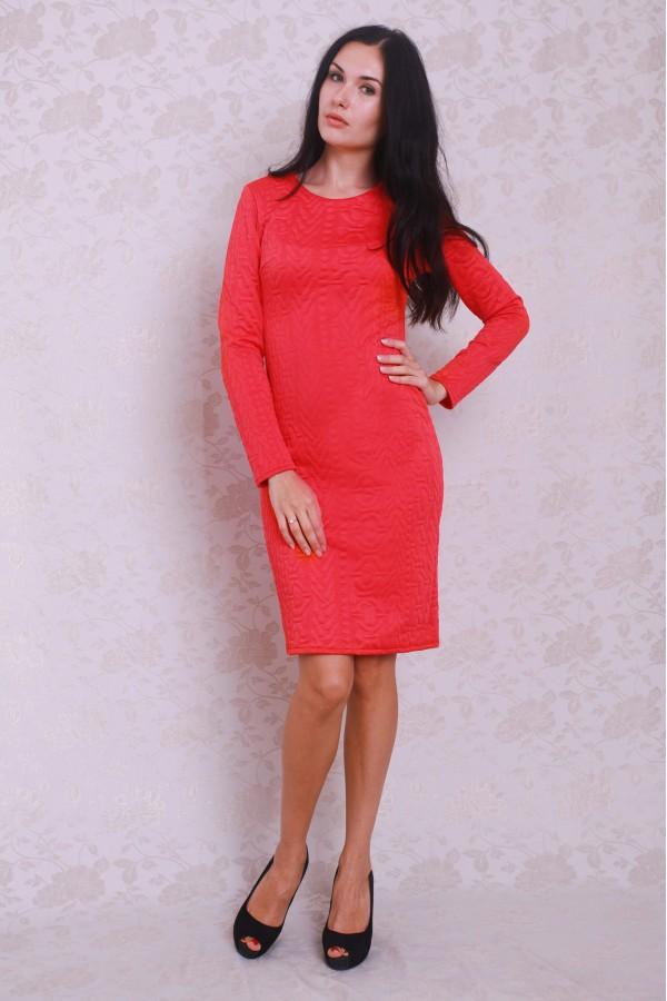 Платье 376 коралл
