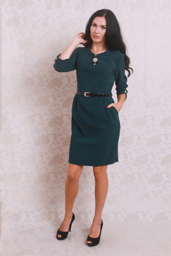 Платье 368 тёмно-зелёный
