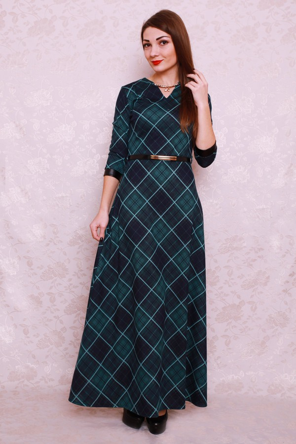 Платье 400 тёмно-зелёный