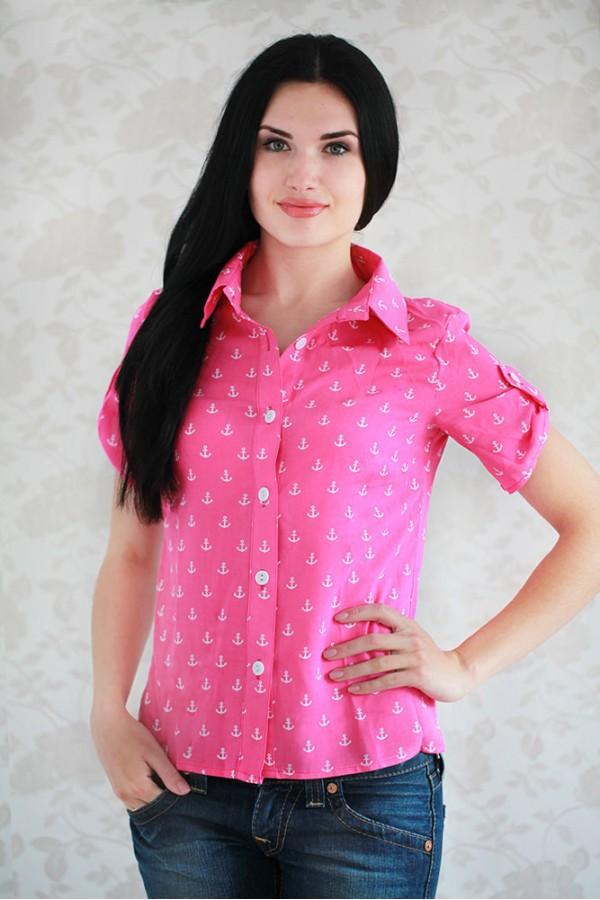 Рубашка 323 малиновый