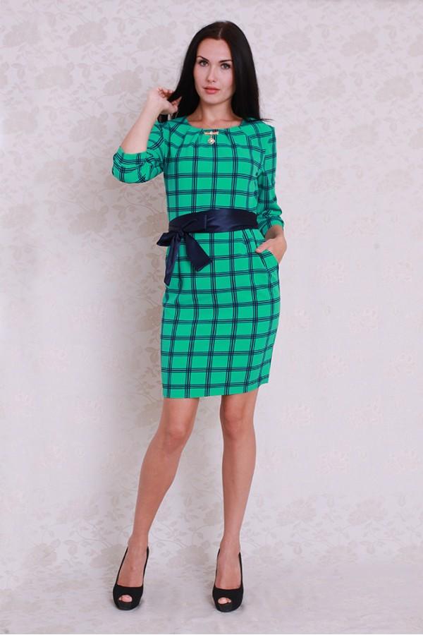 Платье 358 бирюза/синий