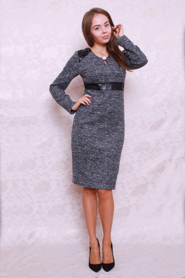 Платье 389 серый