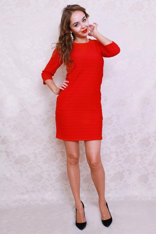 Платье 429 красный