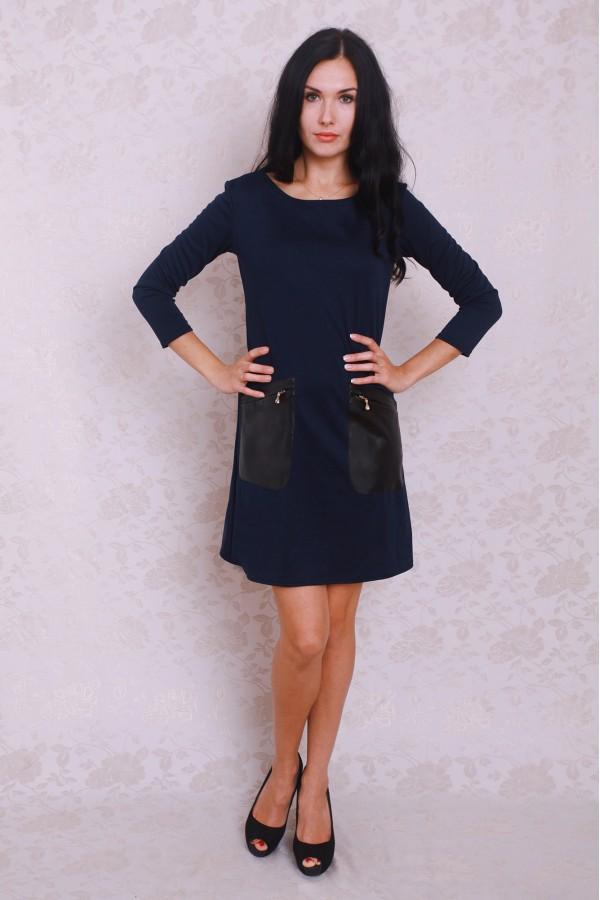 Платье 371 тёмно-синий
