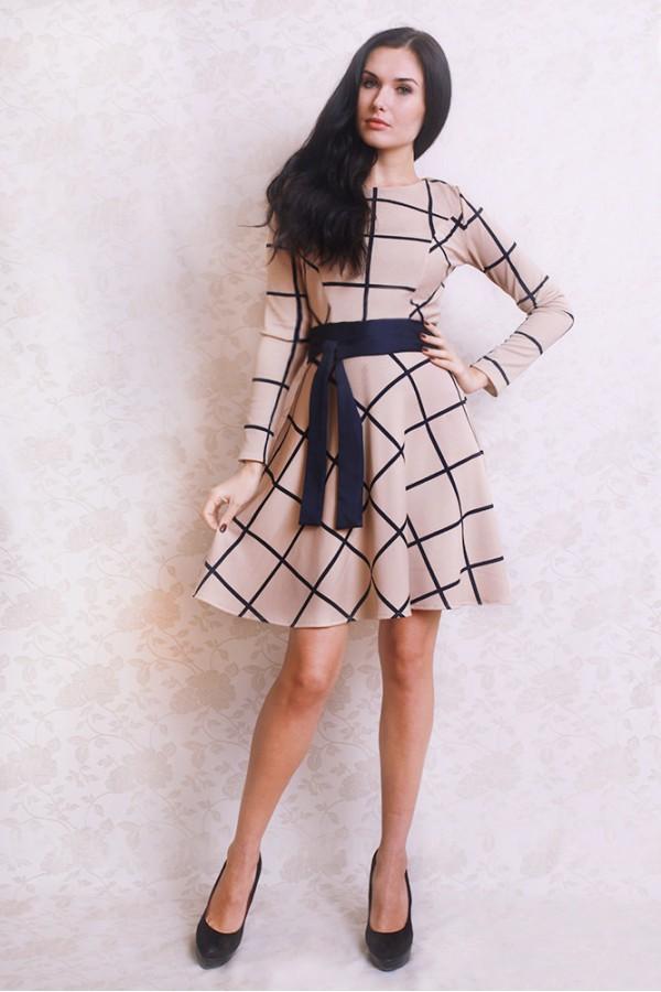 Платье 385 бежевый