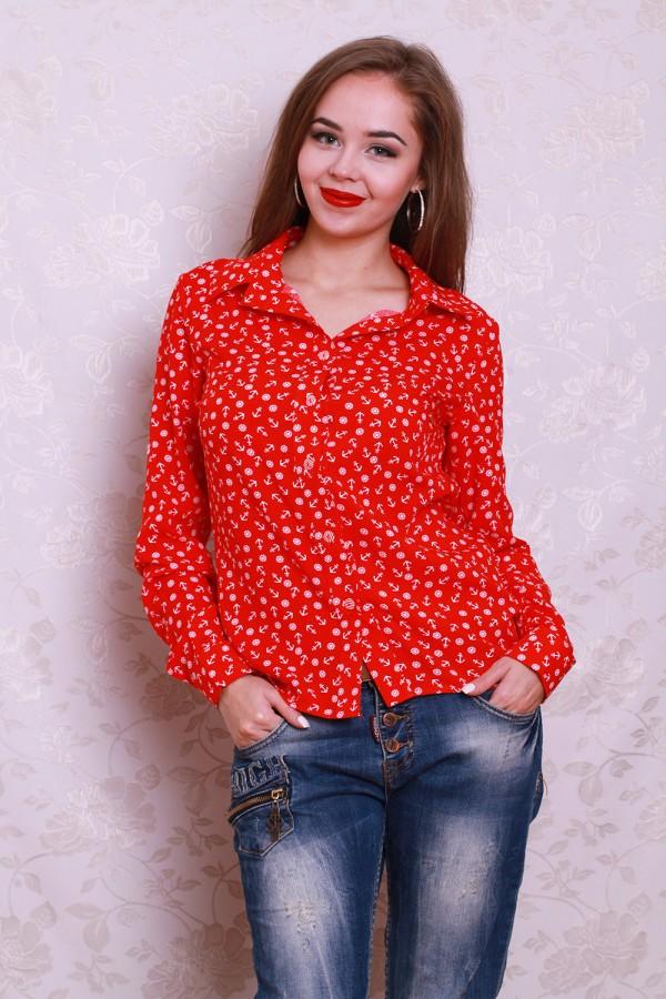 Рубашка 441 красный