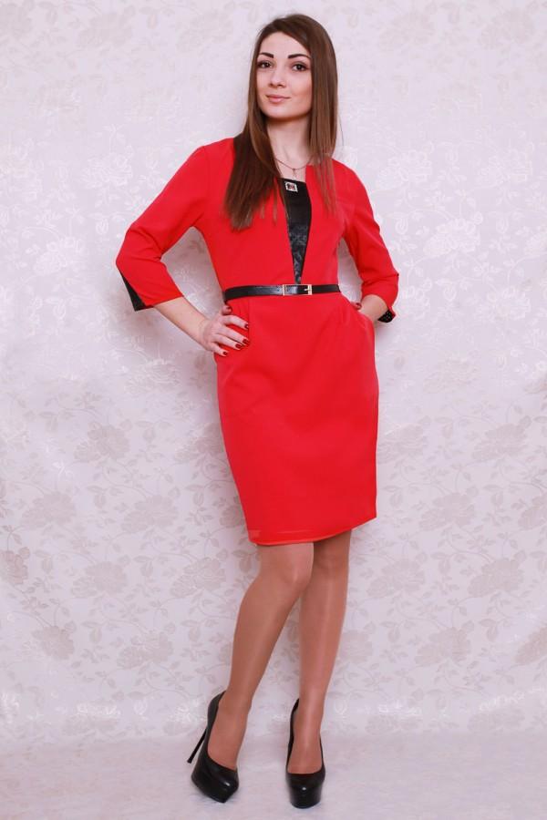 Платье 421 красный