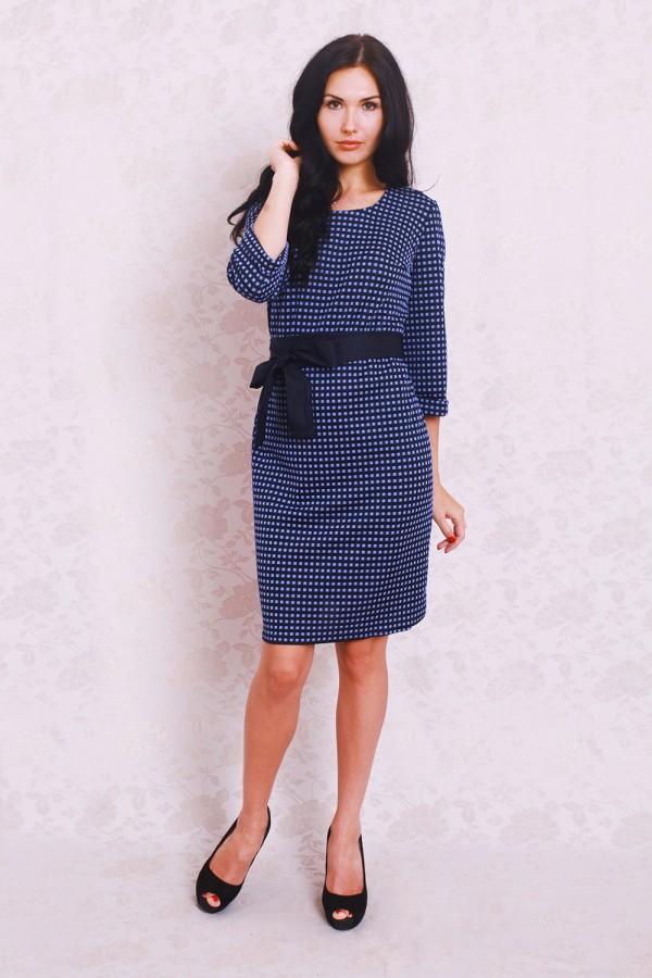 Платье 367 синий