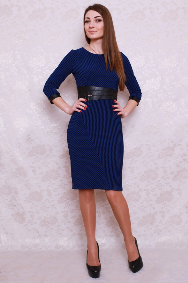 Плаття 422 темно-синій