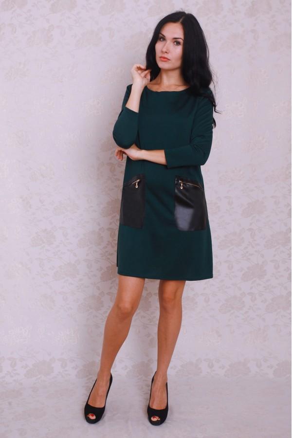 Платье 371 тёмно-зелёный