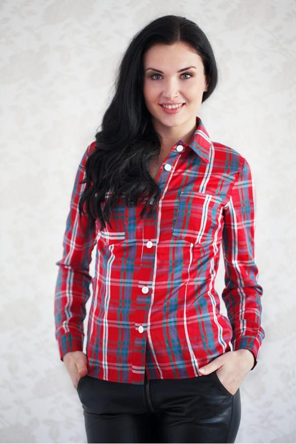 Рубашка 309 красный
