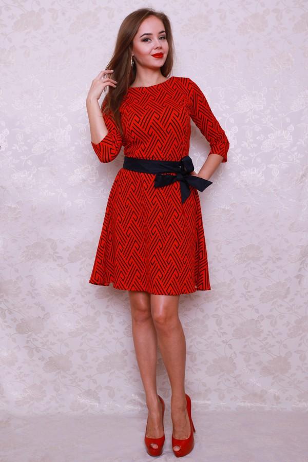 Платье 443 красный