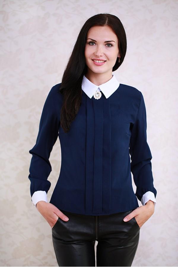 Блуза 352 тёмно-синий