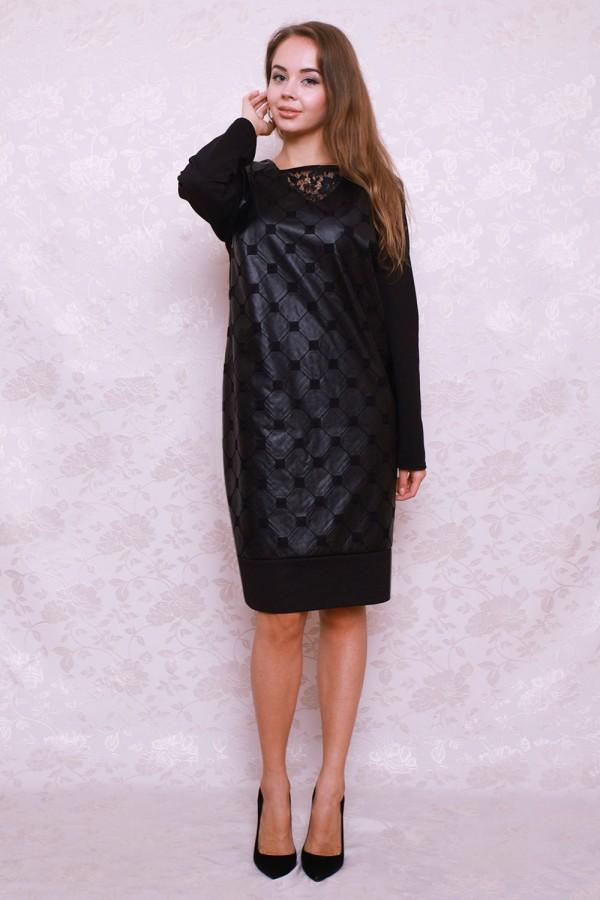 Платье 390 чёрный/ромбики
