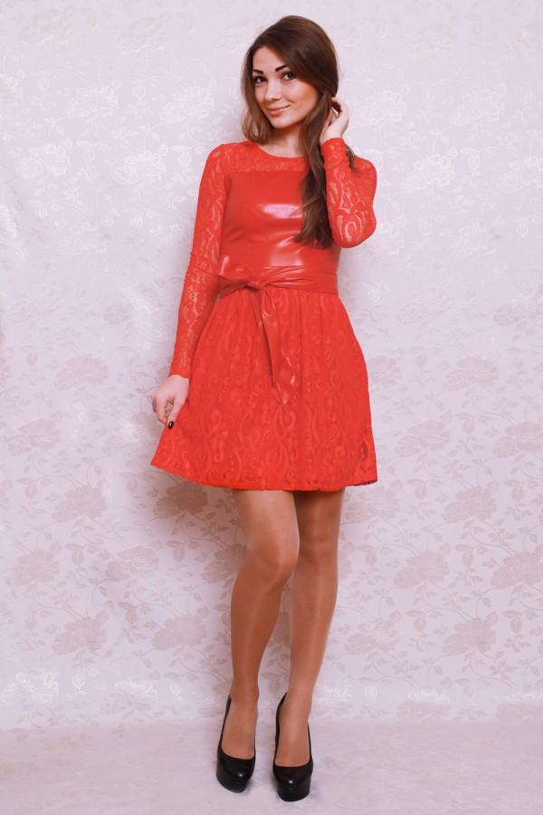 Платье 397 красный
