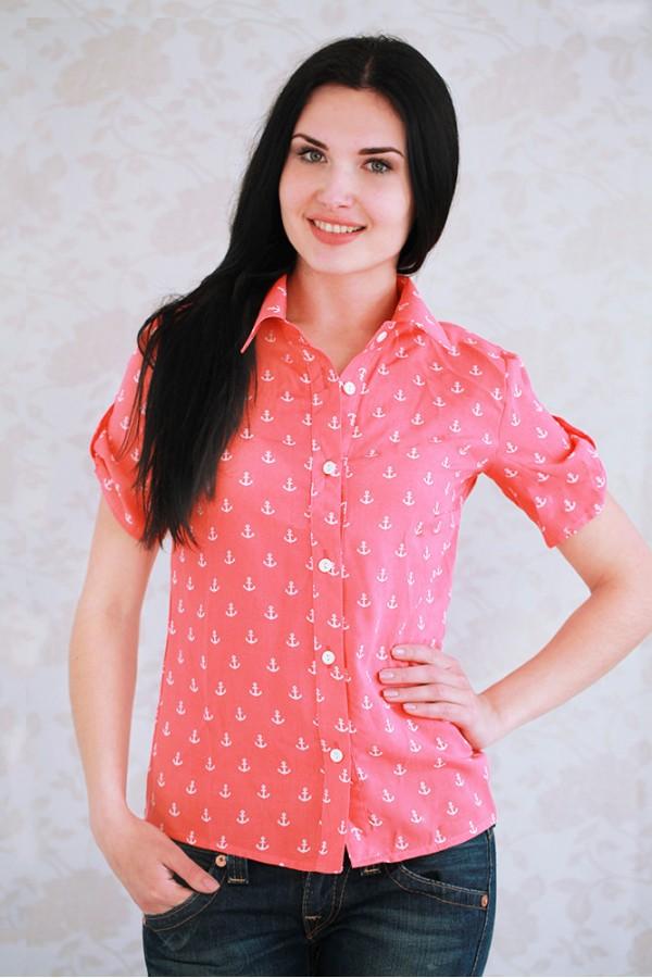 Рубашка 323 коралл