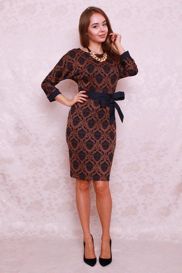 Платье 405 коричневый