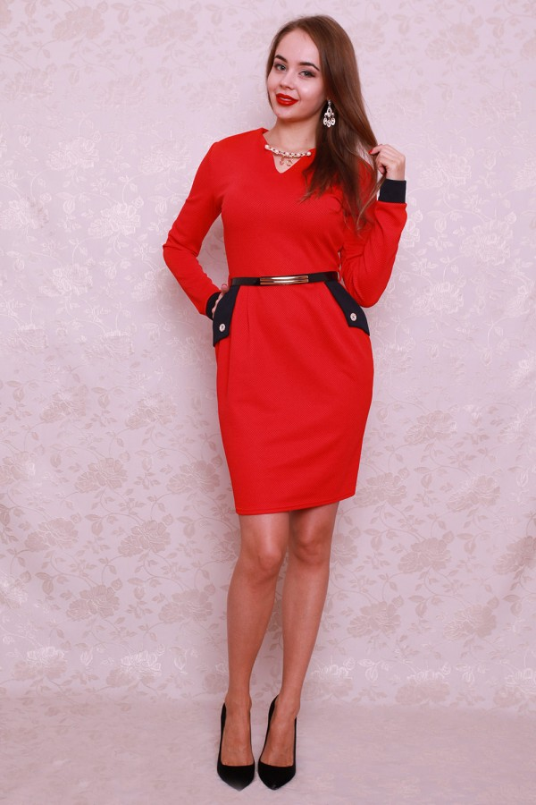 Платье 411 красный