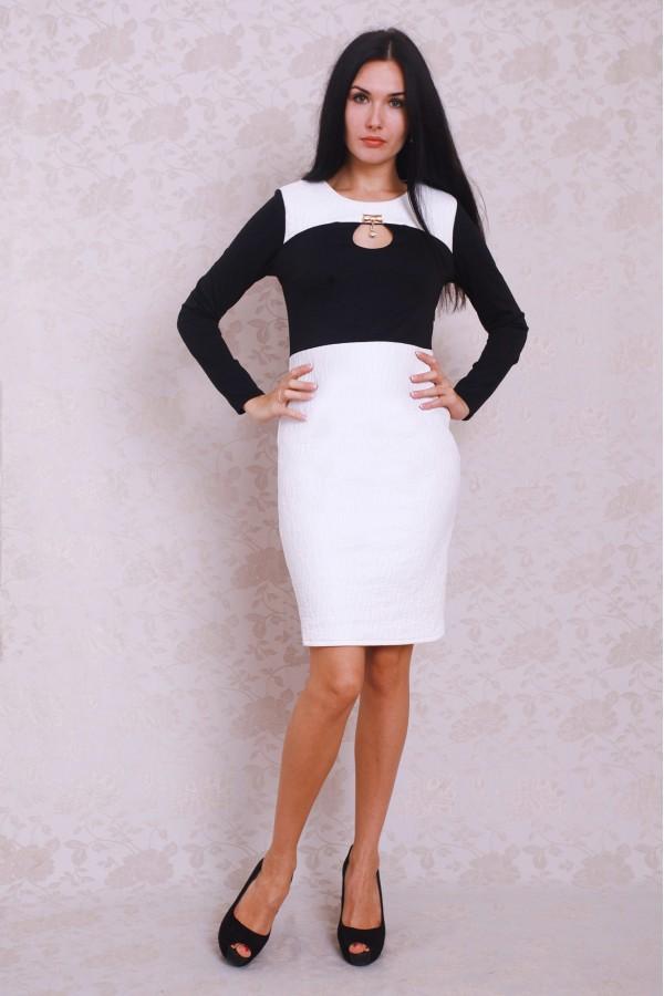 Плаття 381 чорний / білий