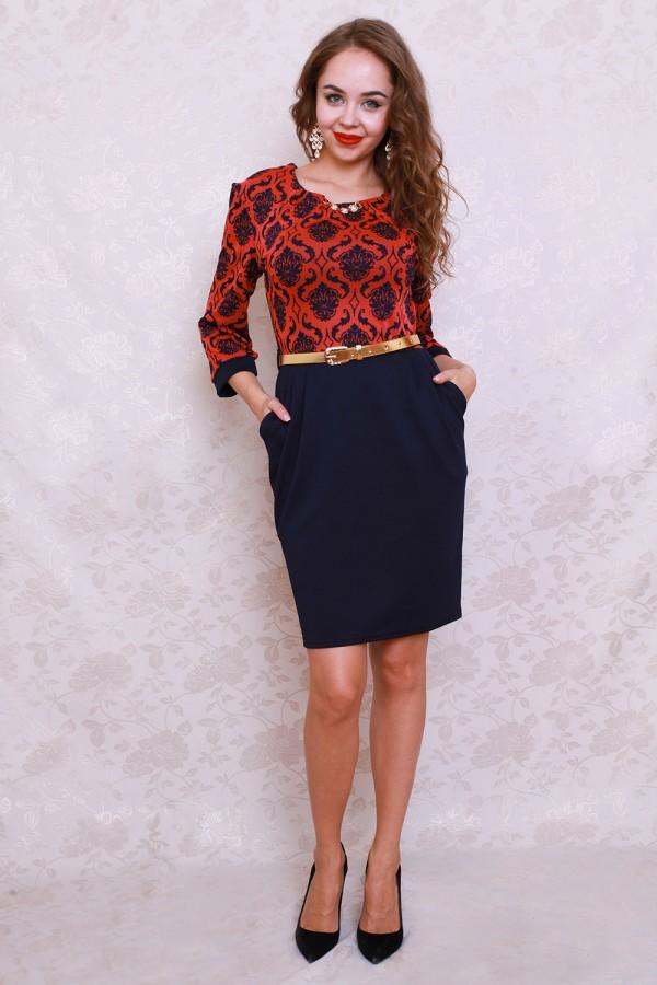 Платье 0581 терракотовый
