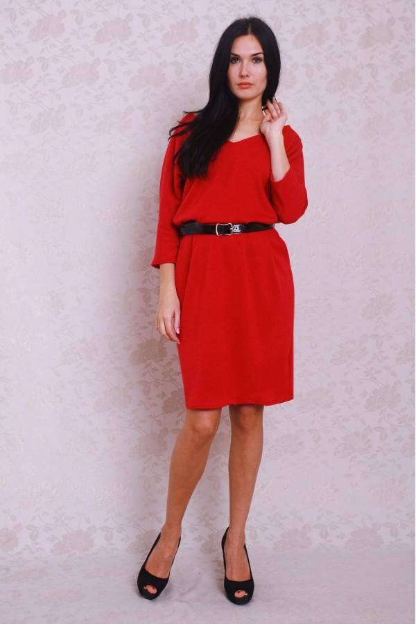 Платье 378 красный
