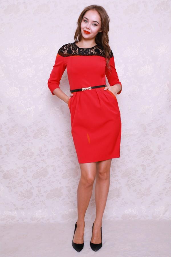 Платье 428 красный