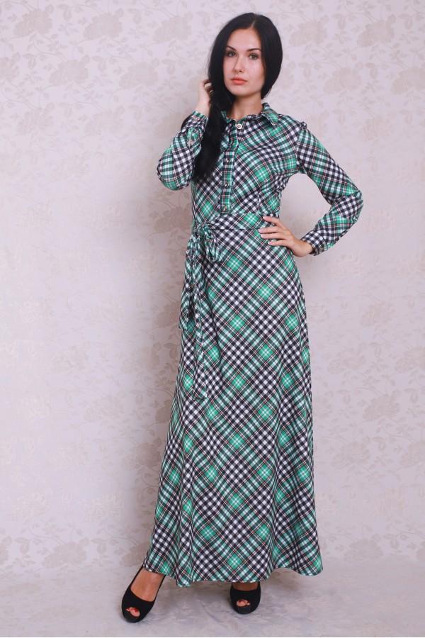 Платье 373 бирюза